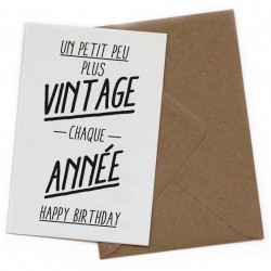 "Carte postale ""Vintage"""