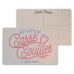 "Carte postale ""Casse couilles"""