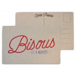 "Carte postale ""Bisous"""
