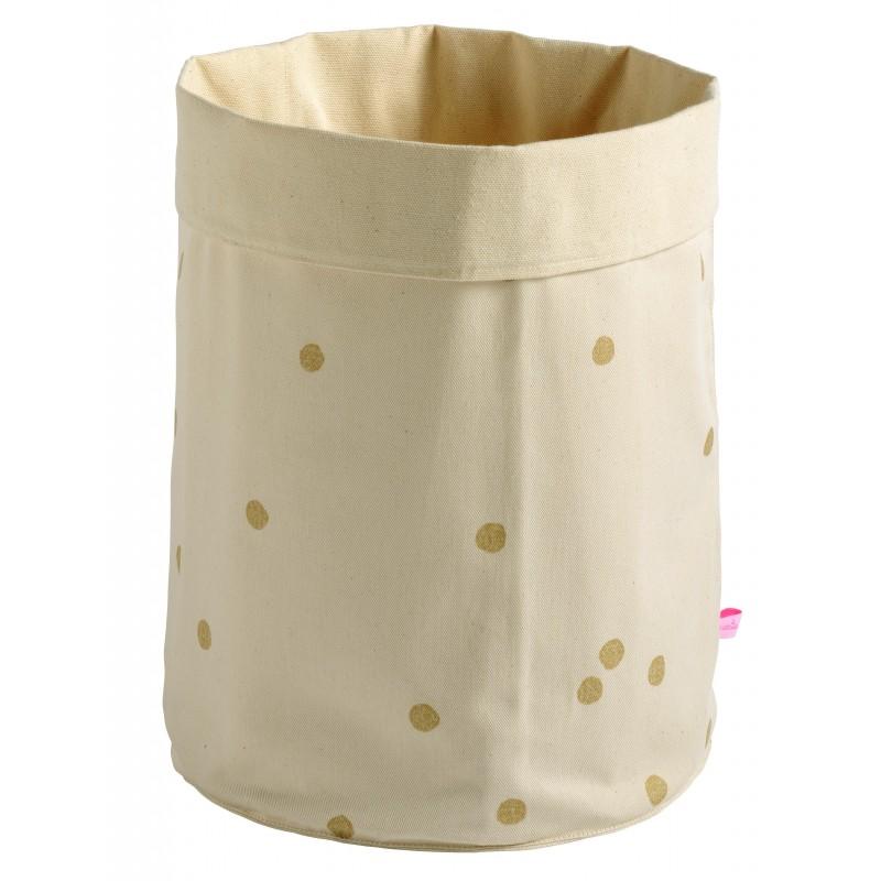 corbeille en tissu odette or format moyen. Black Bedroom Furniture Sets. Home Design Ideas