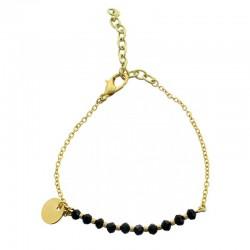 Bracelet médaille noir