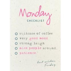 """Affiche """"Monday checklist"""""""