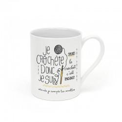 "Mug ""Je crochète donc je suis"""