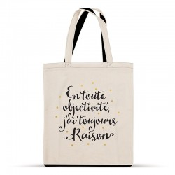 """Tote-bag """"En toute objectivité, ..."""""""