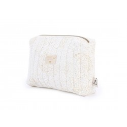 Trousse de toilette gold bubble / white