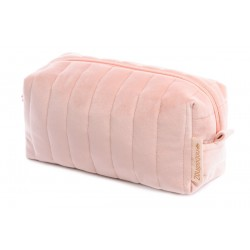 Trousse de toilette cube velours dream pink
