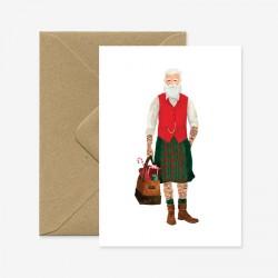 Carte Hipster Santa