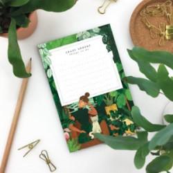 Petit bloc-notes Plant addict lady