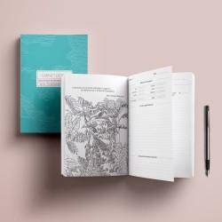 Cahier Detox turquoise - Gymnastique de pensées heureuses