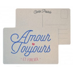 "Carte postale ""Amour Toujours"""