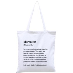 Tote-bag définition Marraine