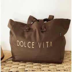"Cabas Lily choco ""DOLCE VITA"""