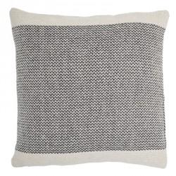Coussin zig-zag gris en coton recyclé