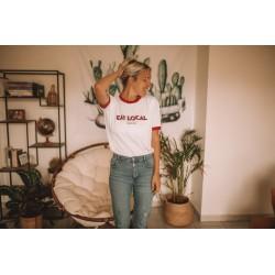 T-shirt d'allaitement Eat local rouge - Taille XS