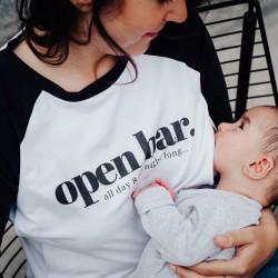 T-shirt d'allaitement Open bar - Taille XL