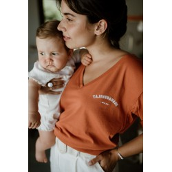 T-shirt d'allaitement P'allaite terracotta - Taille M