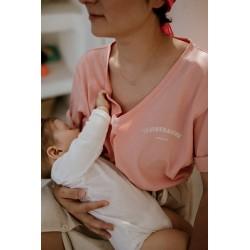 T-shirt d'allaitement P'allaite rose - Taille XS
