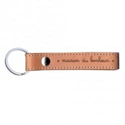 Porte-clés naturel Maison du bonheur