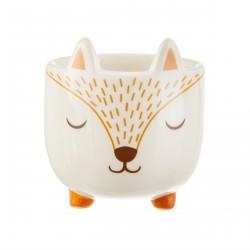 Mini pot de fleurs renard