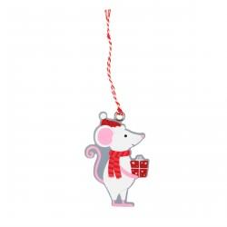 Set de 6 étiquettes cadeaux souris et son cadeau