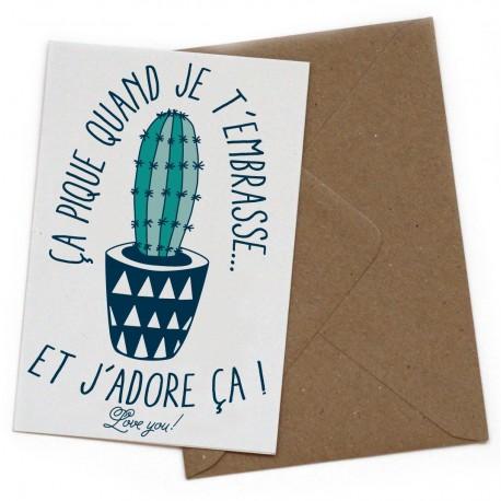 """Carte postale """"Ca pique"""""""