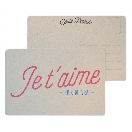 """Carte postale """"Je t'aime"""""""