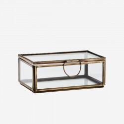 Boîte en verre et métal finition perlée - Petit format