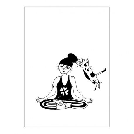 Affiche A3 Fille zen