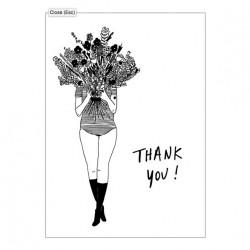 Carte double Flower girl Thank you