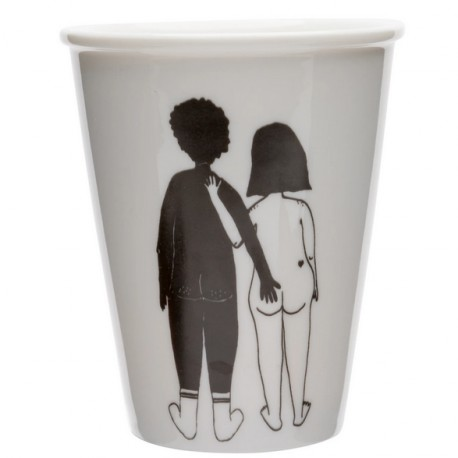 Tasse white woman et black man
