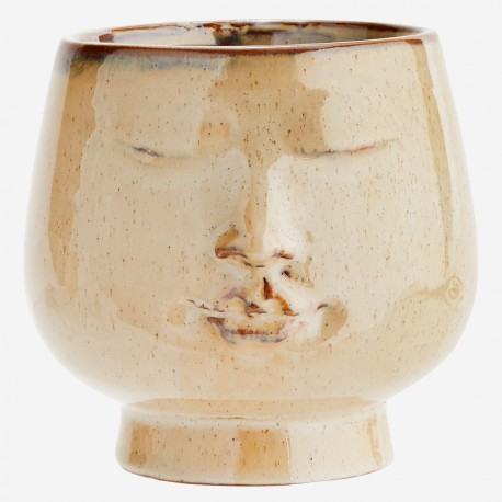 Pot de fleurs visage Budha - Grand format