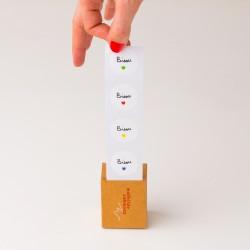 Rouleau de stickers Bisou