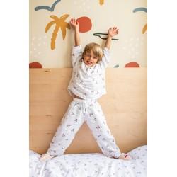 Pyjama 2 pièces en lange Bisou 2/3 ans