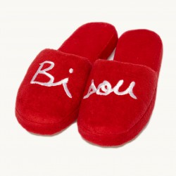 Chaussons Bisou adulte rouge T37/39