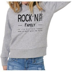 "Sweat-shirt ""Rock & Roll Family"" - 5/6 ans"