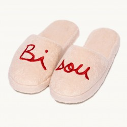 Chaussons Bisou adulte rose T40/42