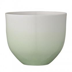 Pot de fleurs dégradé vert et blanc