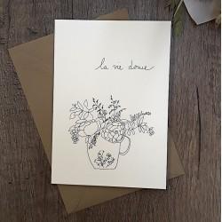 Carte et enveloppe La vie douce