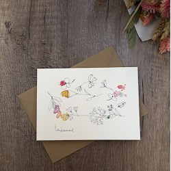 Carte et enveloppe Tendrement