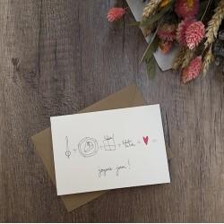 Carte et enveloppe Joyeux jour