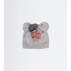 Bonnet bisou grey - 6/12mois