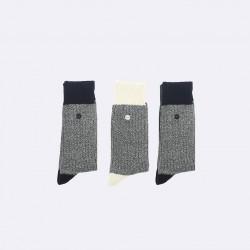 Trio de chaussettes épaisses chinées 42/45