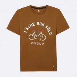 T-shirt J'aime mon vélo Brown - Taille L