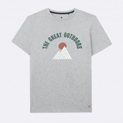 T-shirt gris The great outdoor - Taille L