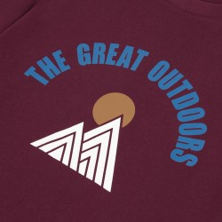 T-shirt bordeaux The great outdoor - Taille XL