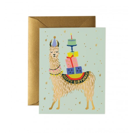 Carte double Lama birthday