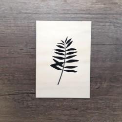 Carte en bois palmier