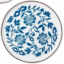 Assiette Molly 24cm - Fleurs sur fond blanc