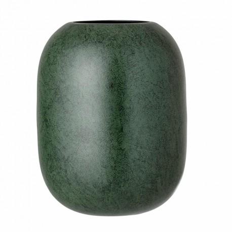 Vase en métal vert foncé