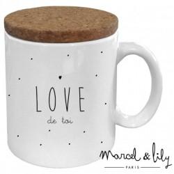Mug avec couvercle Love de toi